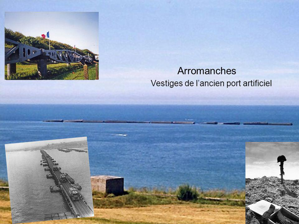 Arromanches Vestiges de l'ancien port artificiel