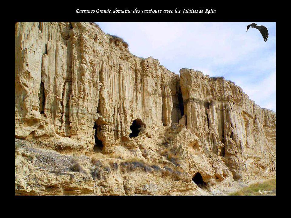 Barranco Grande, domaine des vautours avec les falaises de Ralla