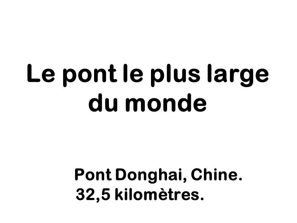 Le pont le plus large du monde