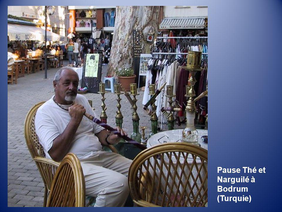 Pause Thé et Narguilé à Bodrum (Turquie)