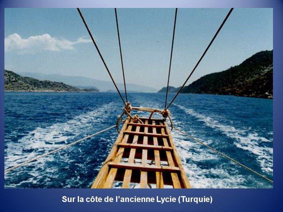 Sur la côte de l'ancienne Lycie (Turquie)