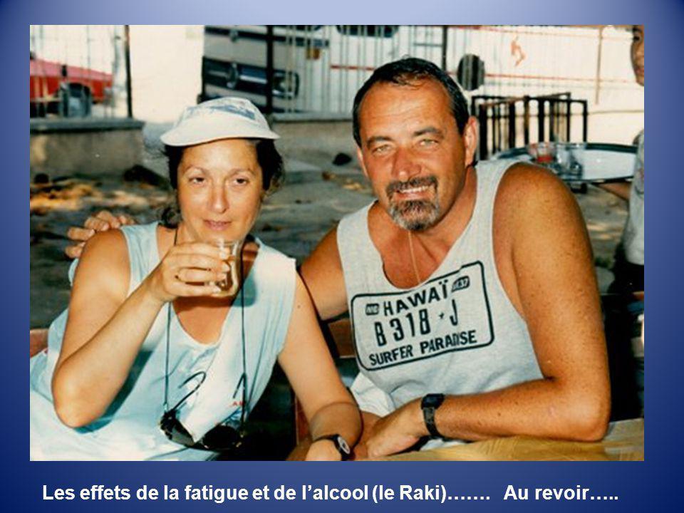 Les effets de la fatigue et de l'alcool (le Raki)……. Au revoir…..