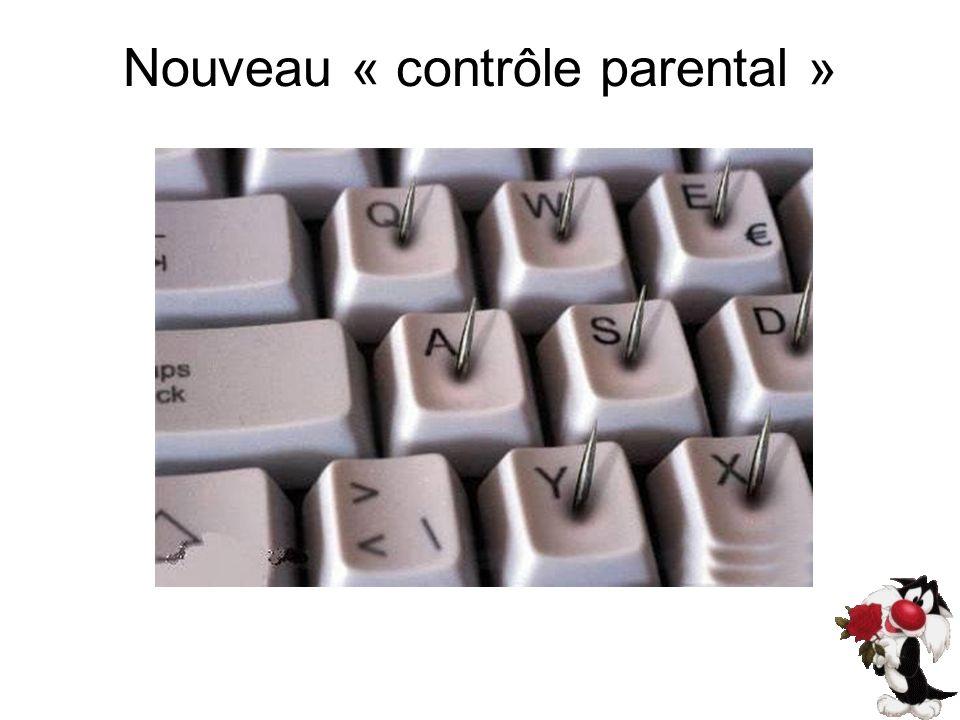 Nouveau « contrôle parental »