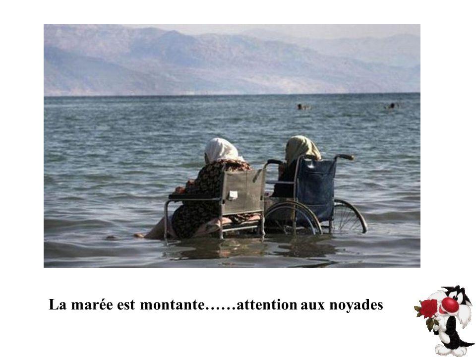 La marée est montante……attention aux noyades