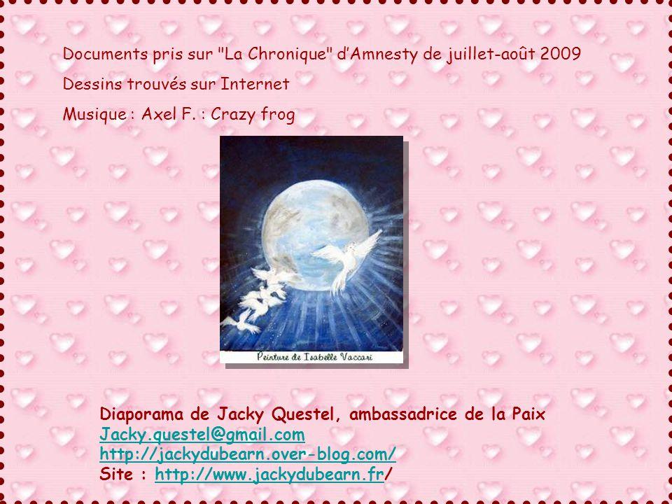 Documents pris sur La Chronique d'Amnesty de juillet-août 2009