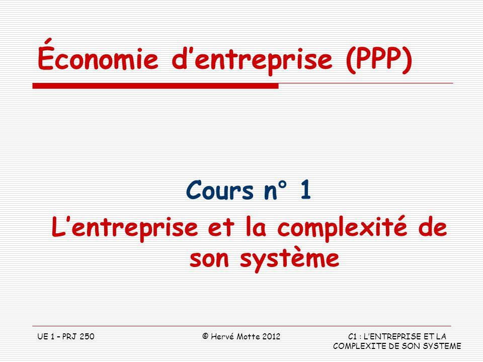 L'entreprise et la complexité de son système