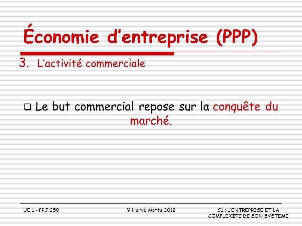 Le but commercial repose sur la conquête du marché.