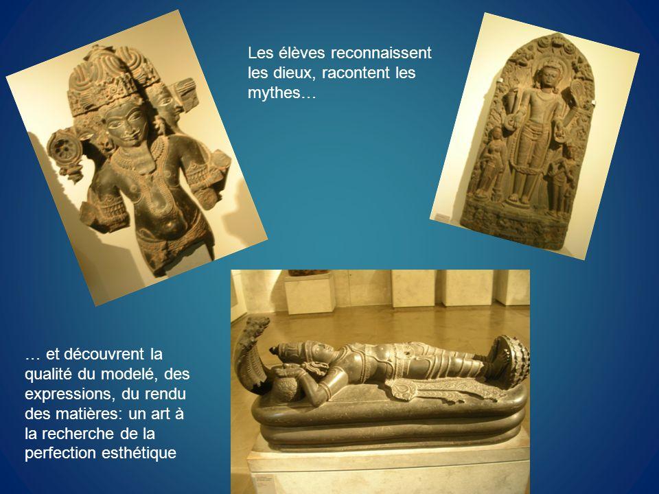 Les élèves reconnaissent les dieux, racontent les mythes…