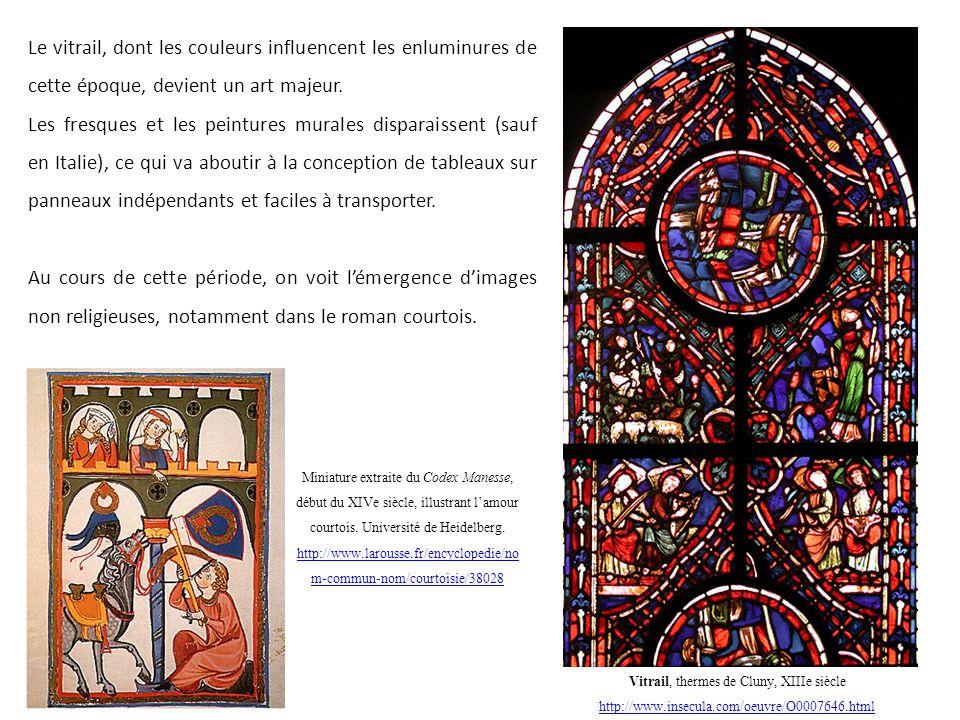 Vitrail, thermes de Cluny, XIIIe siècle