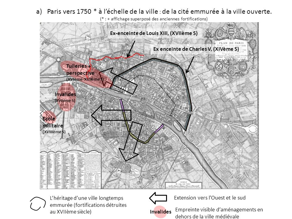 (* : + affichage superposé des anciennes fortifications)