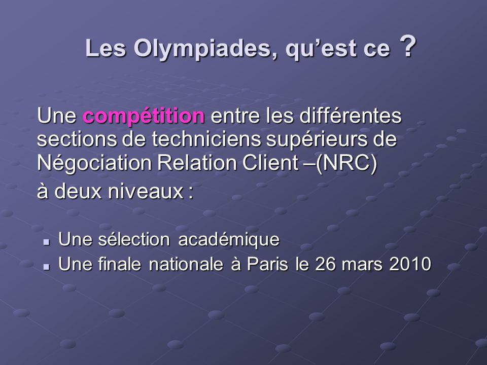 Les Olympiades, qu'est ce