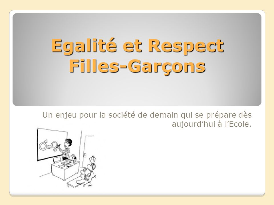 Egalité et Respect Filles-Garçons
