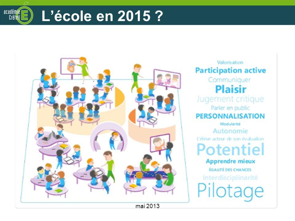 L'école en 2015 Cette école est-elle forcément et naturellement numérique mai 2013