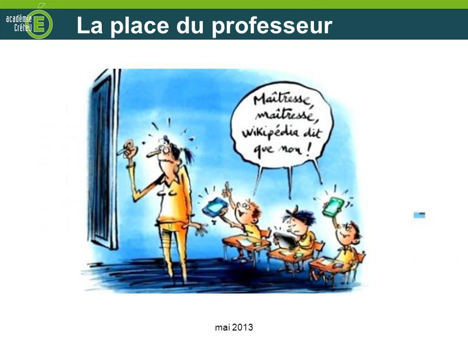 La place du professeur mai 2013