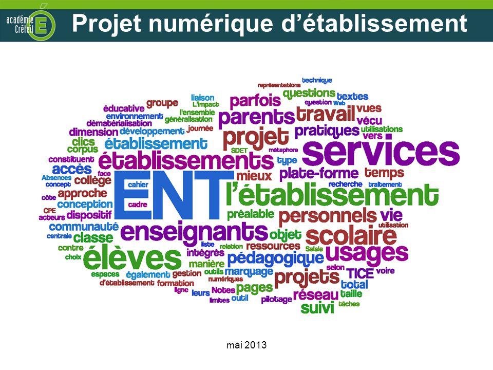 Projet numérique d'établissement