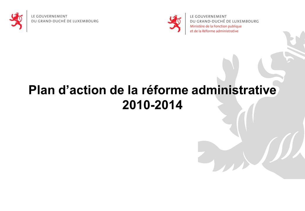 Plan d'action de la réforme administrative 2010-2014