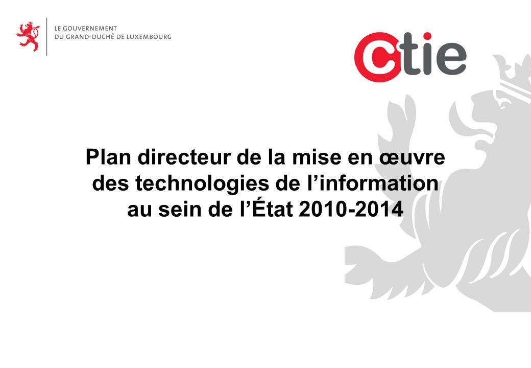 Plan directeur de la mise en œuvre des technologies de l'information au sein de l'État 2010-2014
