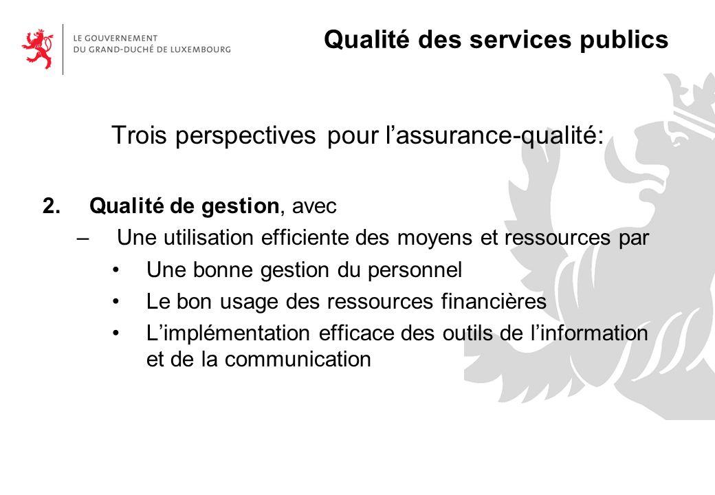 Qualité des services publics