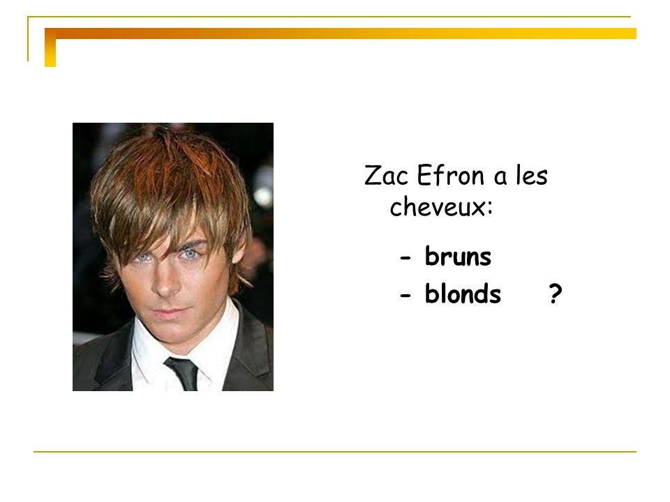Zac Efron a les cheveux: