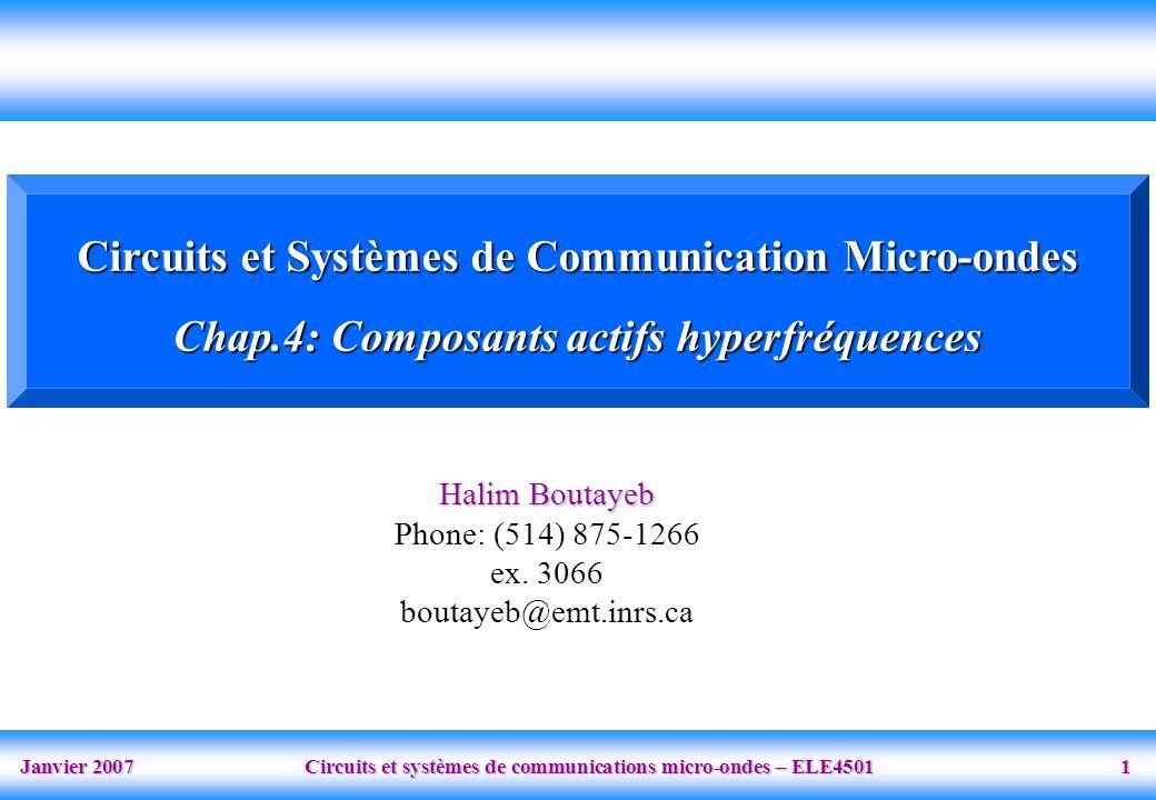 Circuits et Systèmes de Communication Micro-ondes
