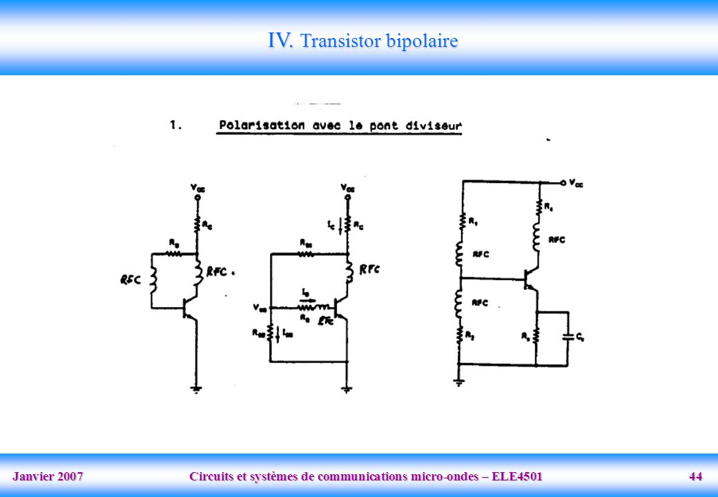 IV. Transistor bipolaire