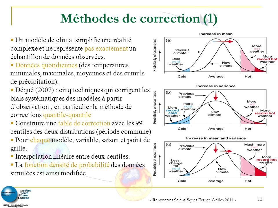 Méthodes de correction (1)