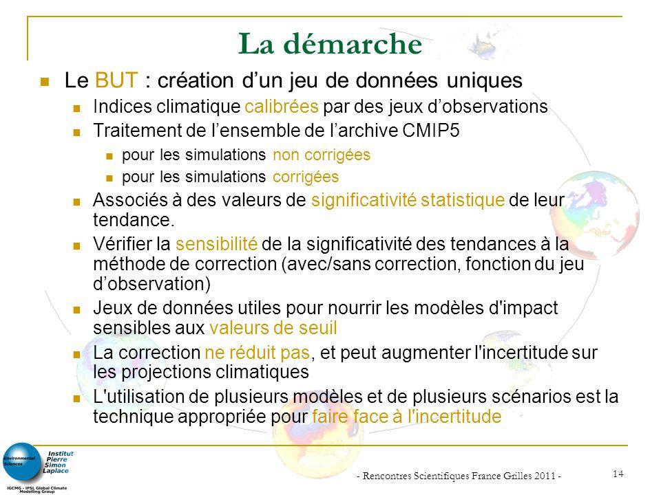 - Rencontres Scientifiques France Grilles 2011 -