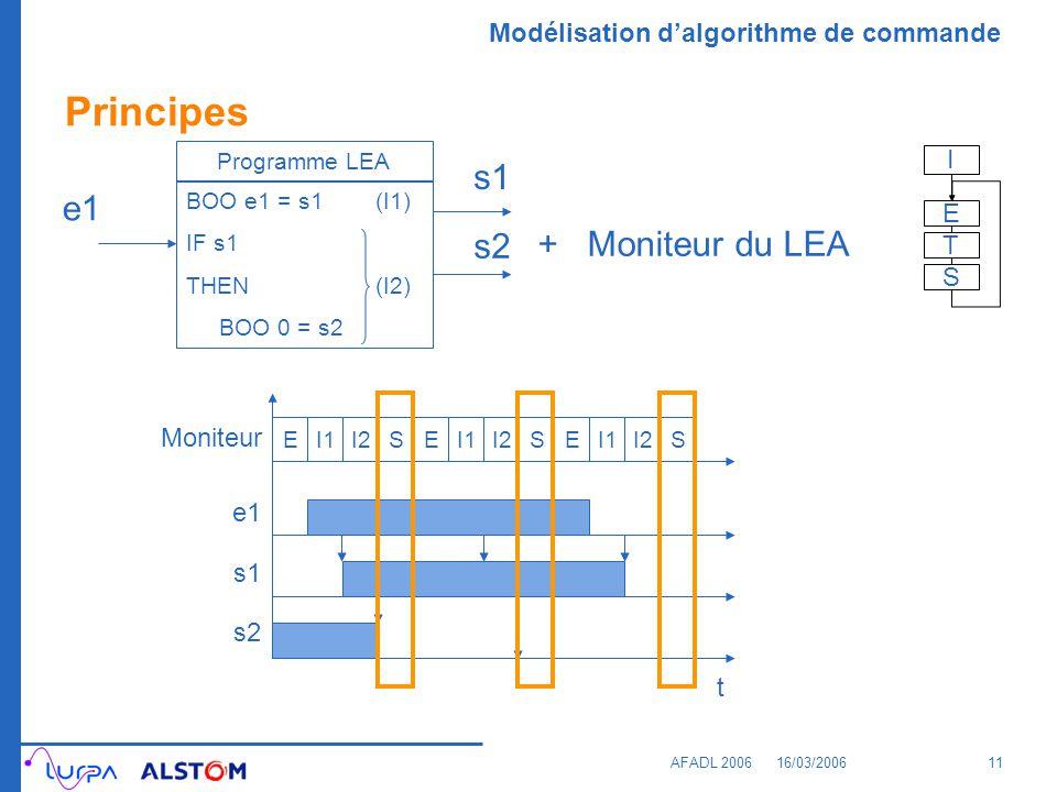 Principes s1 e1 s2 + Moniteur du LEA