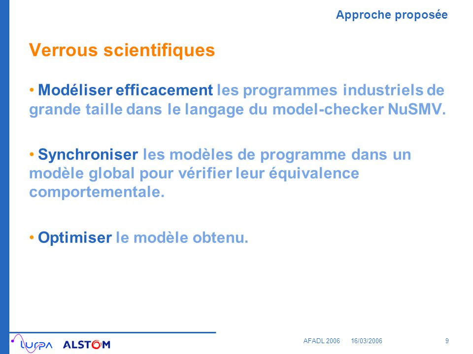 Verrous scientifiques