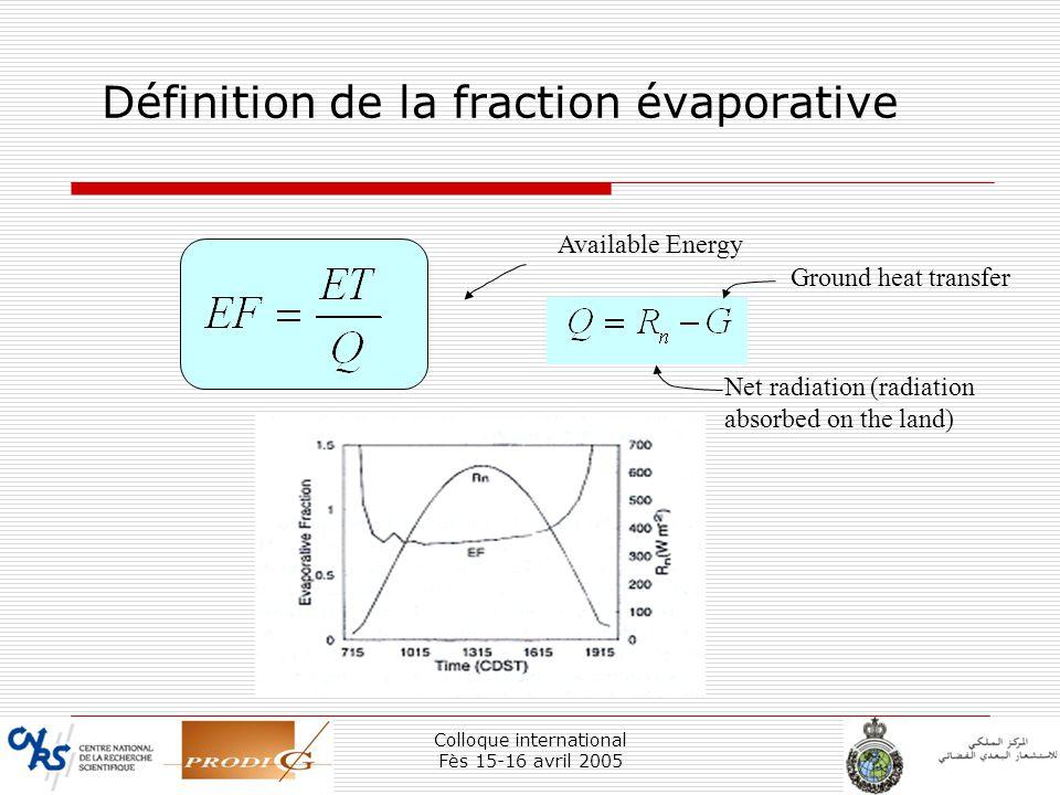 Définition de la fraction évaporative
