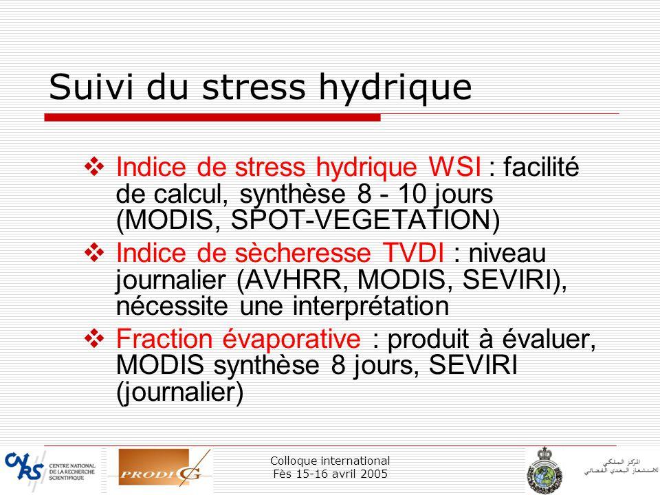 Suivi du stress hydrique