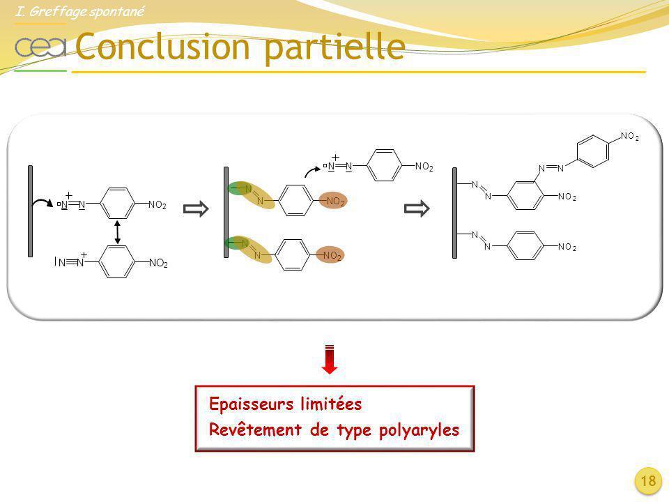 Conclusion partielle Epaisseurs limitées Revêtement de type polyaryles