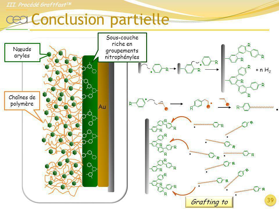 Sous-couche riche en groupements nitrophényles