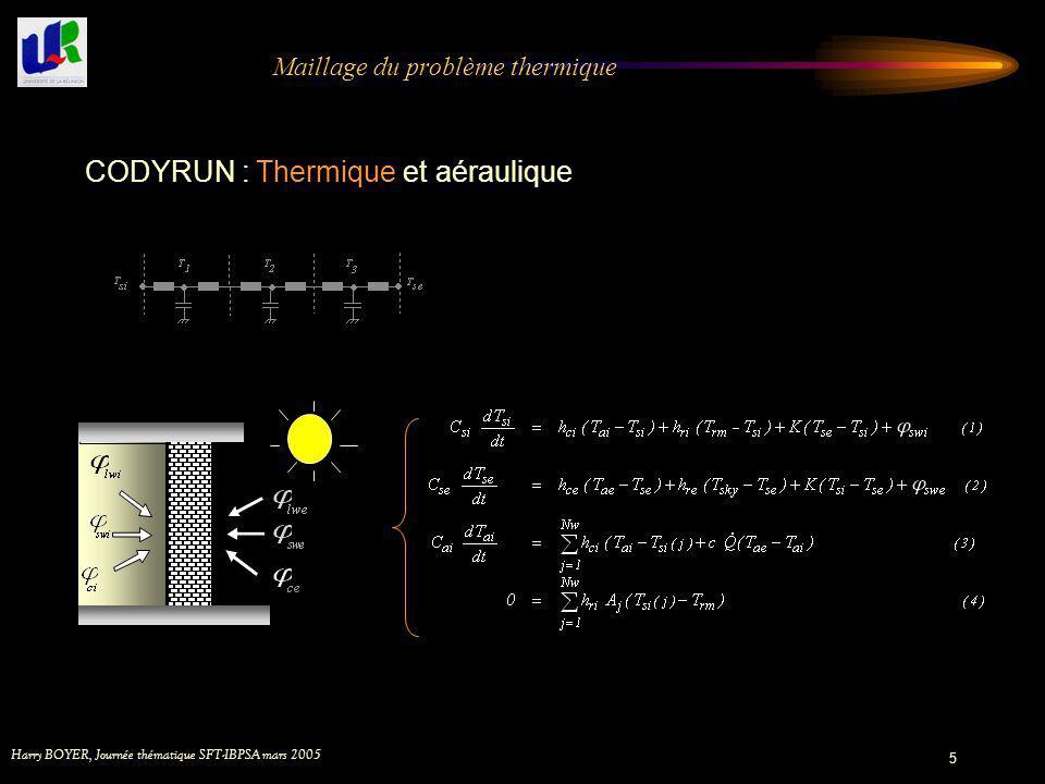 Maillage du problème thermique