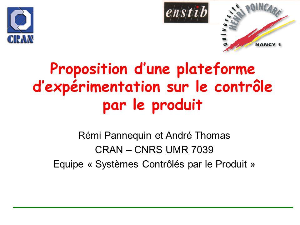 Proposition d'une plateforme d'expérimentation sur le contrôle par le produit