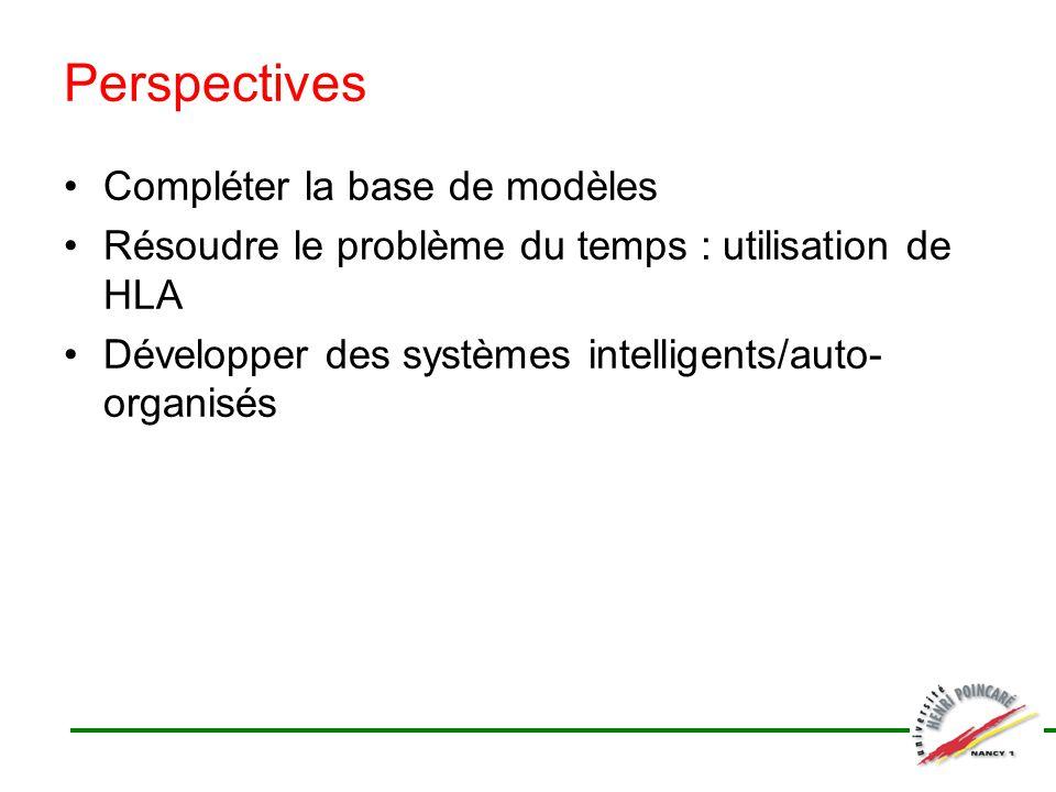 Perspectives Compléter la base de modèles
