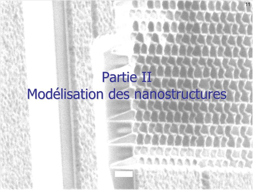 Partie II Modélisation des nanostructures