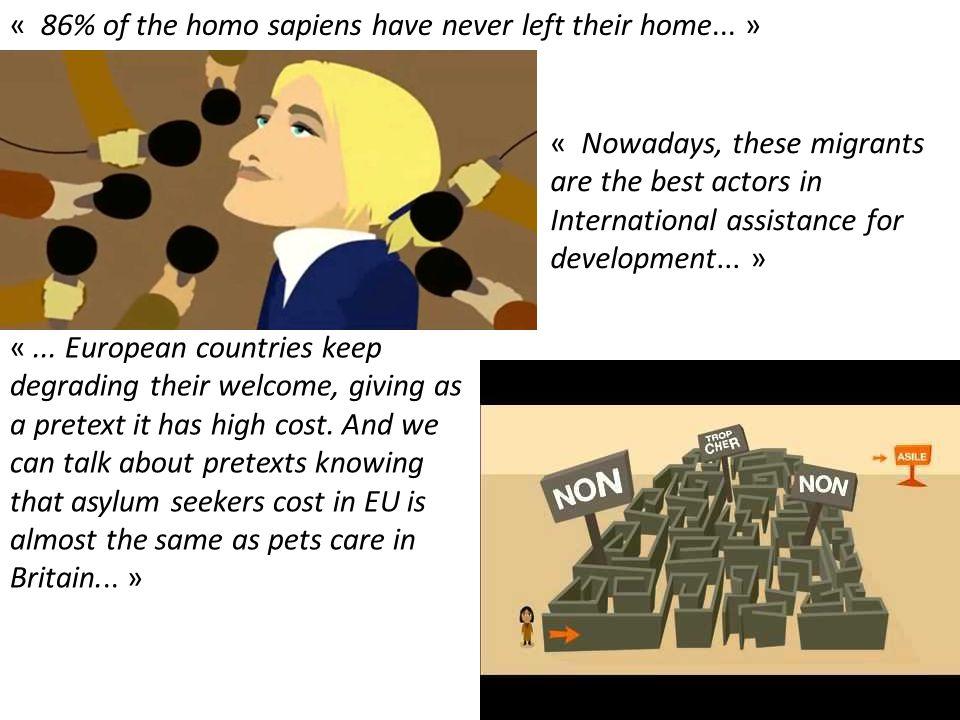 « 86% of the homo sapiens have never left their home... »