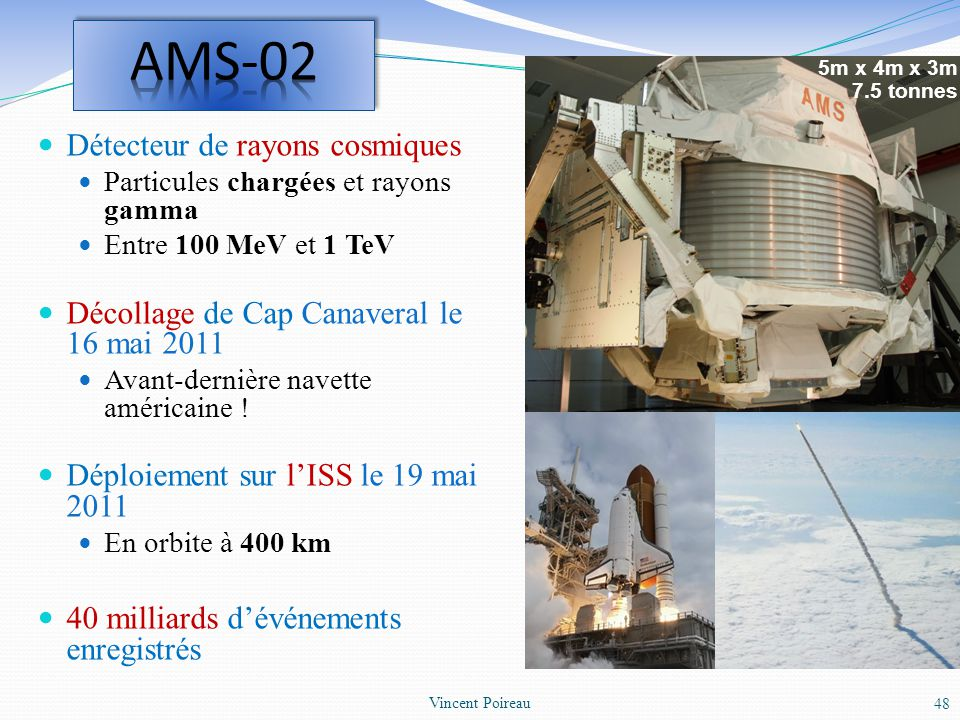 AMS-02 Détecteur de rayons cosmiques