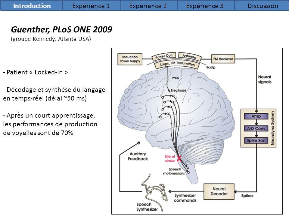 Guenther, PLoS ONE 2009 Introduction Expérience 1 Expérience 2