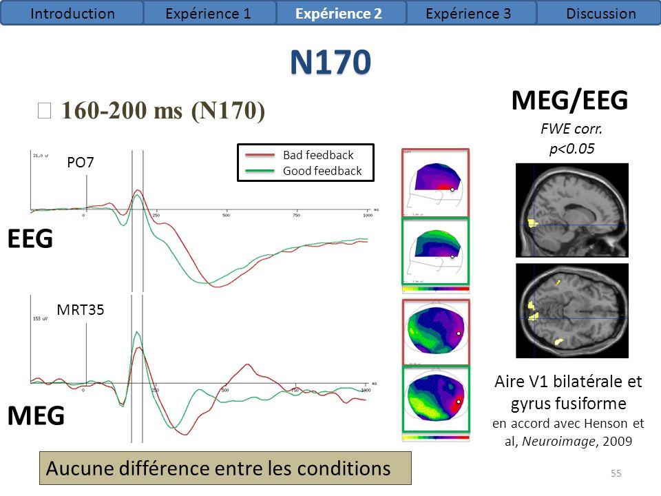 N170 MEG/EEG EEG MEG ★ 160-200 ms (N170)
