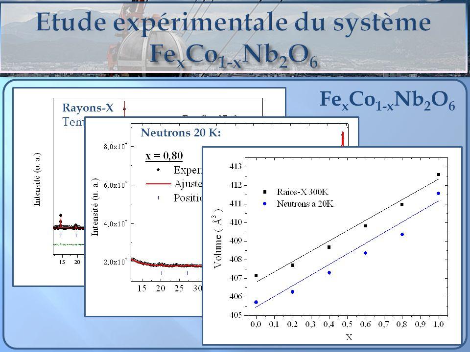 Etude expérimentale du système FexCo1-xNb2O6