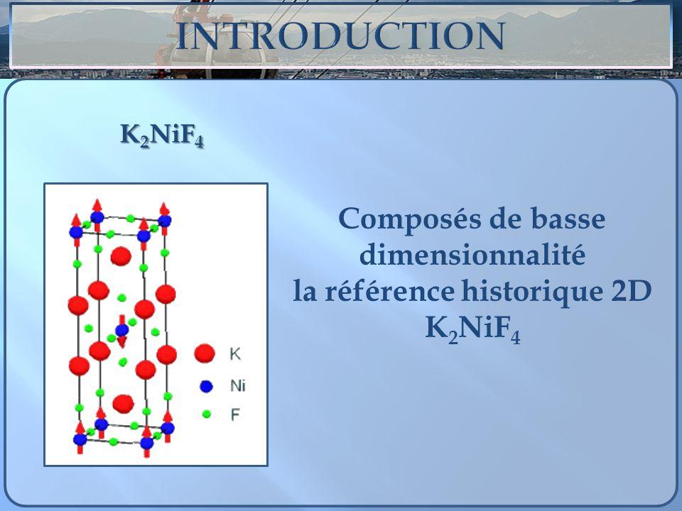 Composés de basse dimensionnalité la référence historique 2D K2NiF4