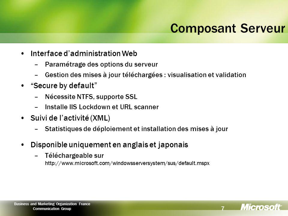 Composant Serveur Interface d'administration Web Secure by default