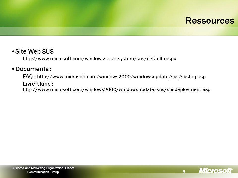 Ressources Site Web SUS Documents :