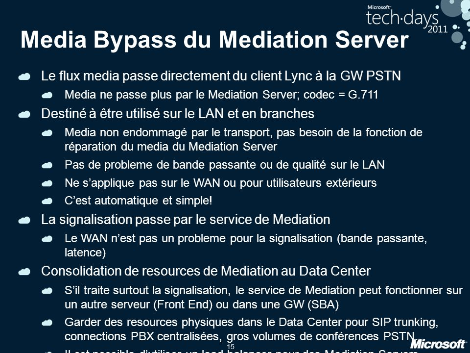Media Bypass du Mediation Server
