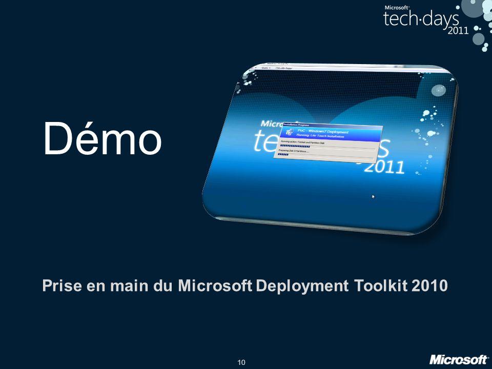 Prise en main du Microsoft Deployment Toolkit 2010