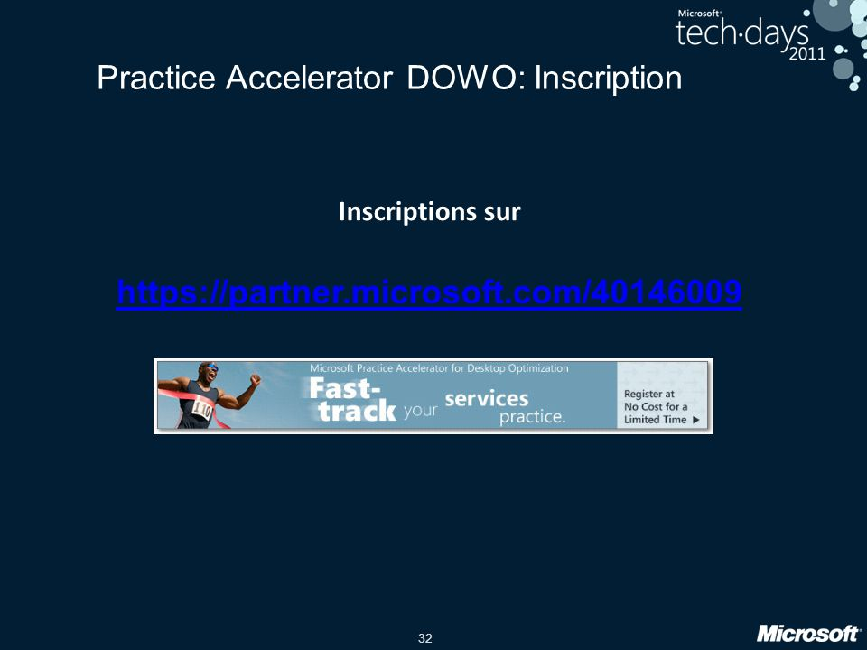 Practice Accelerator DOWO: Inscription