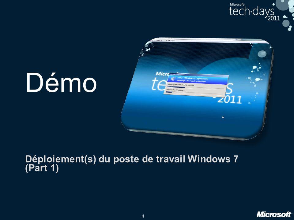 Déploiement(s) du poste de travail Windows 7 (Part 1)