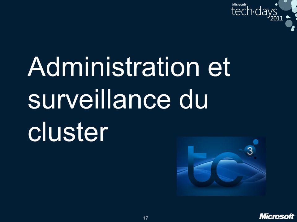 Administration et surveillance du cluster